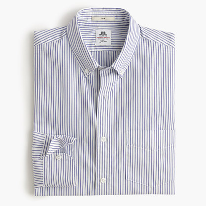 Slim Thomas Mason® for J.Crew washed shirt in pond stripe