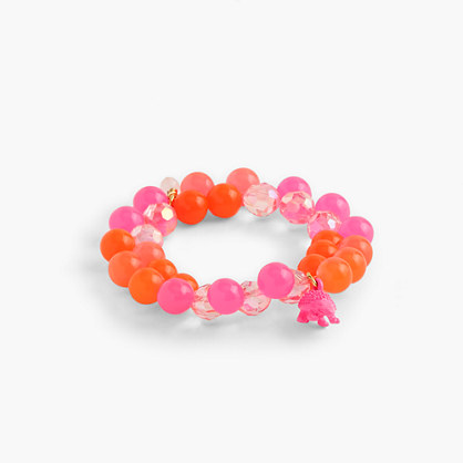 Girls' gumball bracelet with fruit