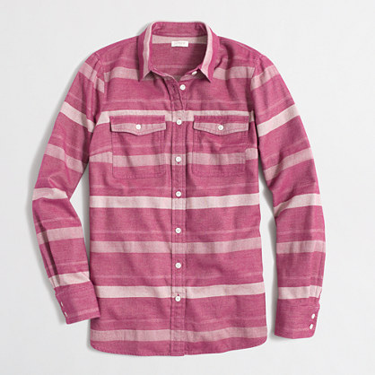Factory striped flannel shirt