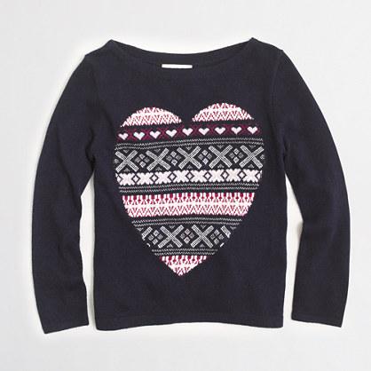 Factory girls' heart Fair Isle sweater
