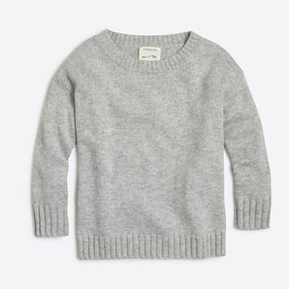 Factory girls' knit sweater tunic