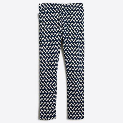 Factory girls' leggings in chevron stripes