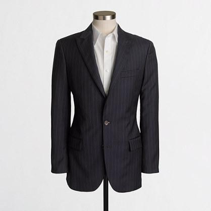 Thompson peak-lapel suit jacket in pinstripe
