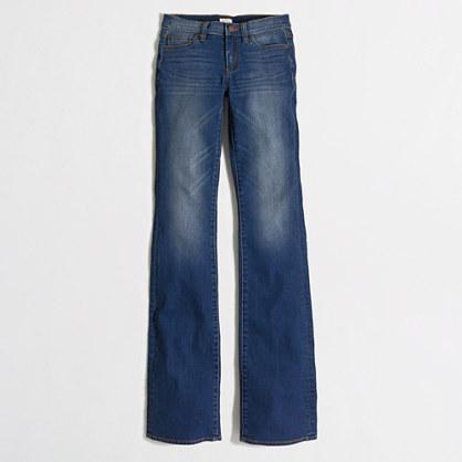 Factory medium blue wash bootcut jean