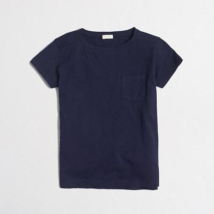 Factory girls' pocket T-shirt