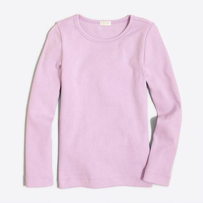 Girls' long-sleeve layering T-shirt