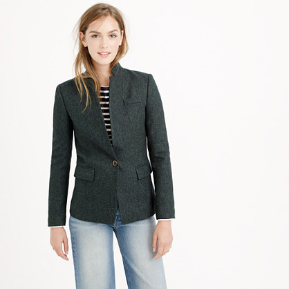 Petite Regent blazer in Donegal wool