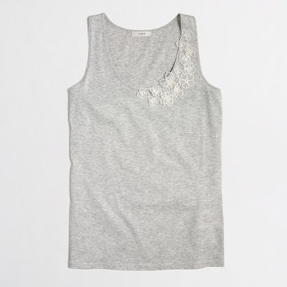 Factory embroidered flower tank top