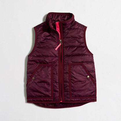 Factory girls' puffer vest