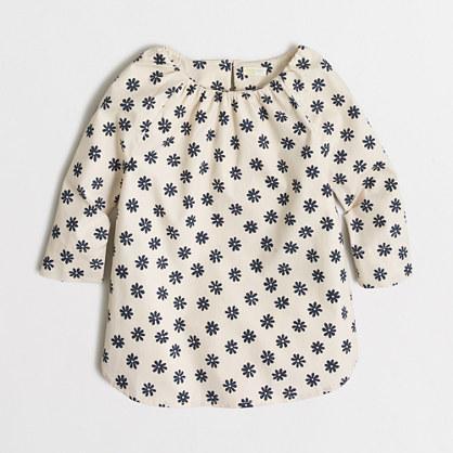 Factory girls' printed poplin tunic