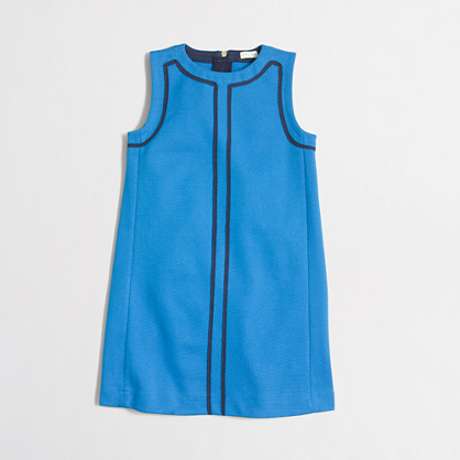 Factory girls' contrast-trim shift dress