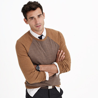 Slim merino wool sweater in stripe