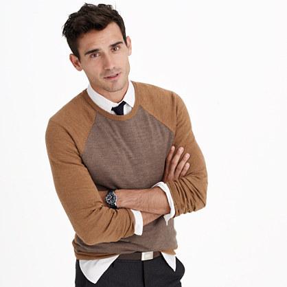 Slim merino wool sweater in stripe