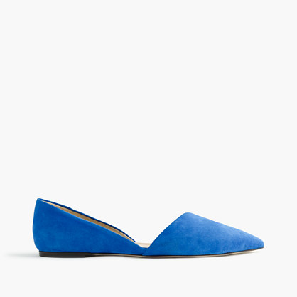 Sloan suede d'Orsay flats