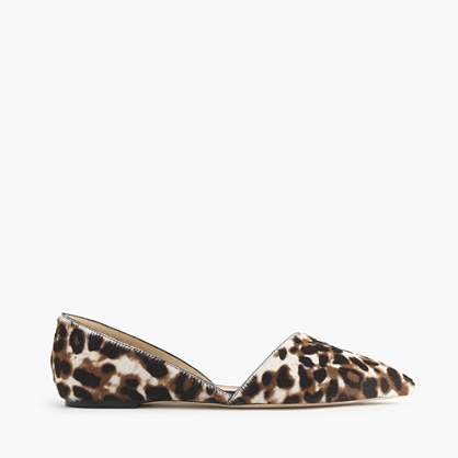 Collection Sloan calf hair d'Orsay flats