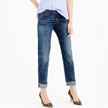 Petite slim broken-in boyfriend jean in Port Stewart wash