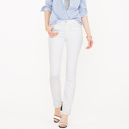 Petite matchstick jean in white