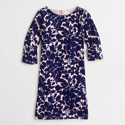 Girls' printed shift dress