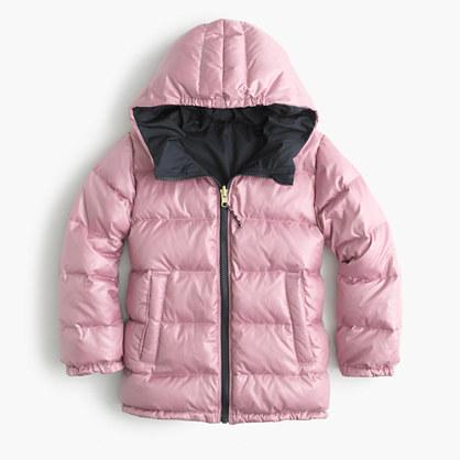 Girls' reversible puffer jacket