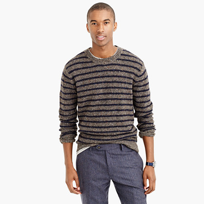 Donegal wool sweater in stripe