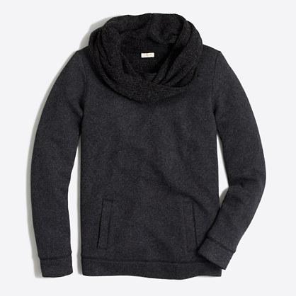 Factory petite funnelneck sweatshirt