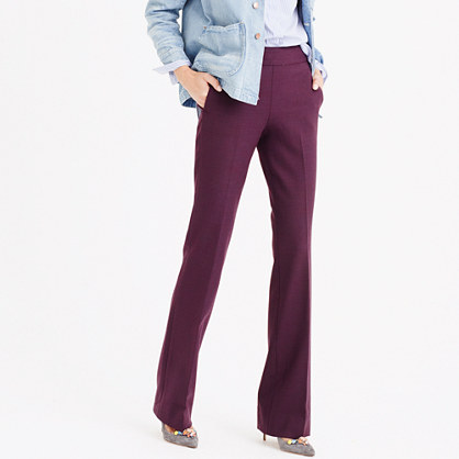 Full-length pant in bi-stretch wool