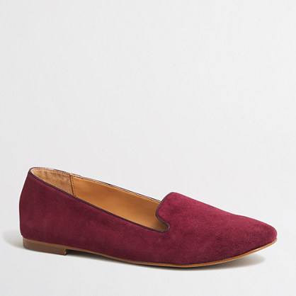 Factory Cora suede loafers