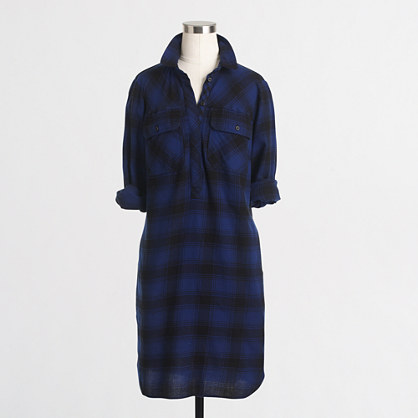 Factory petite flannel shirtdress