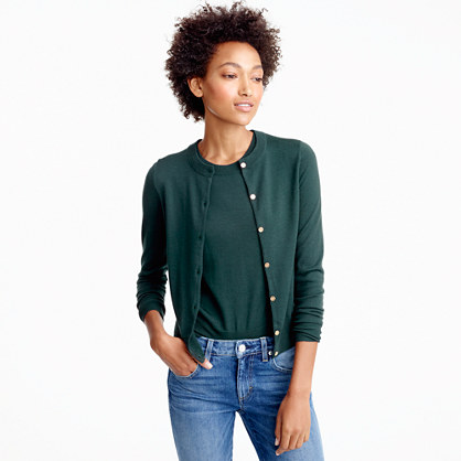 Lightweight wool Jackie cardigan sweater