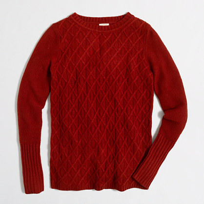 Petite cable-knit sweater