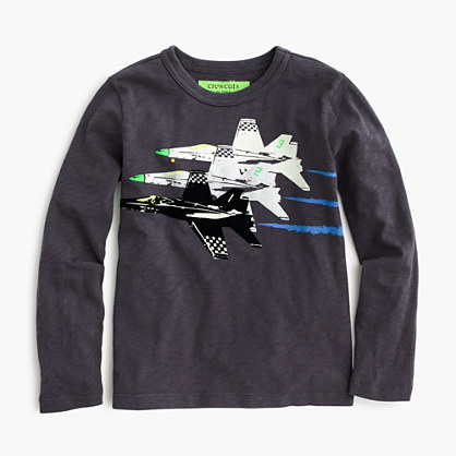 Boys' glow-in-the-dark jets T-shirt