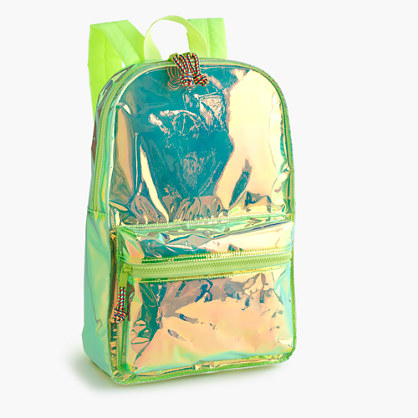 Girls' iridescent backpack