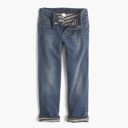 Boys' jersey-lined cozy jean in Tyner wash