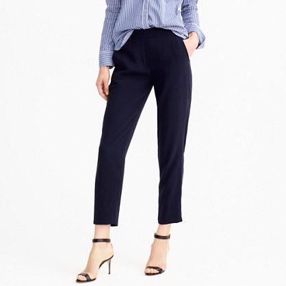 Petite matte crepe trouser