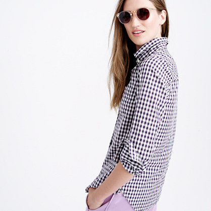 Boy shirt in mini gingham