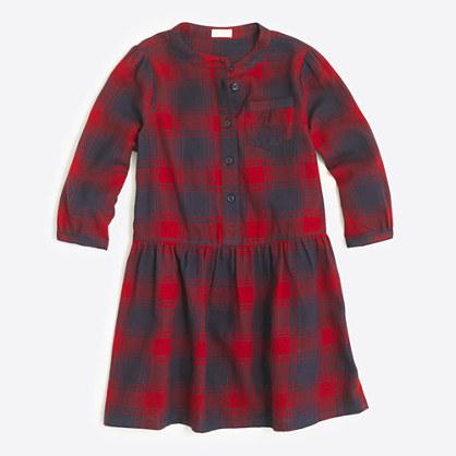 Factory girls' flannel shirtdress