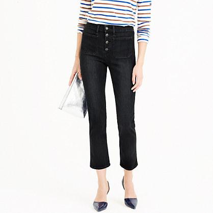 Point Sur vintage patch-pocket cropped jean in black wash