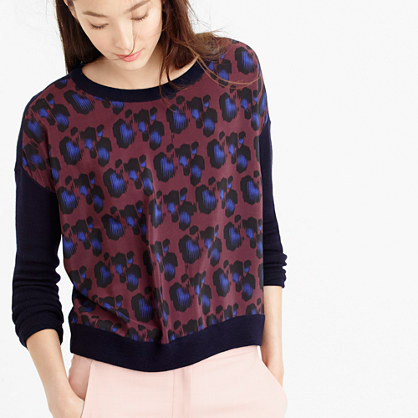 Cobalt leopard sweater