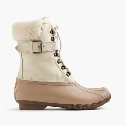 jcrew female womens sperryreg for jcrew shearwater buckle boots in colorblock