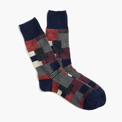 "Anonymous Ismâ""¢ patchwork crew socks"
