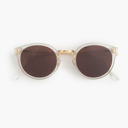 "Superâ""¢ retro sunglasses with clear frame"