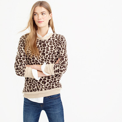 Collection cashmere leopard sweater
