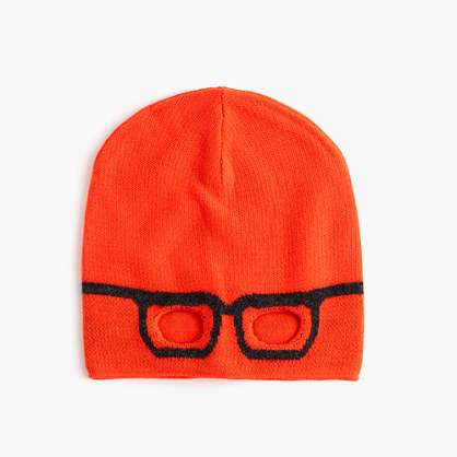 Kids' reversible eyeglasses beanie