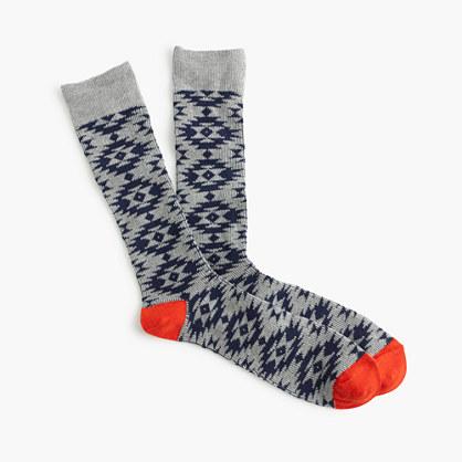 Southwestern pattern socks