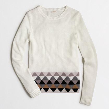 Factory geometric-striped-hem sweater