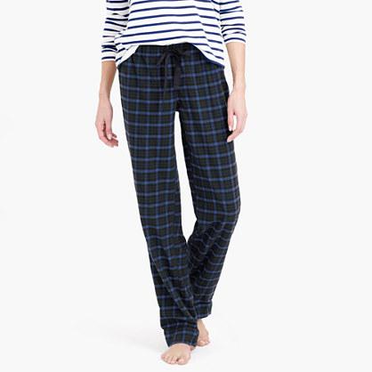 Midnight plaid flannel pajama pant