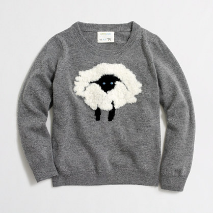 Factory girls' intarsia sheep popover sweater