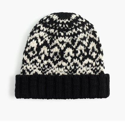 Wool jacquard hat
