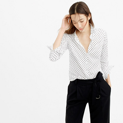 Petite perfect shirt in poplin dot