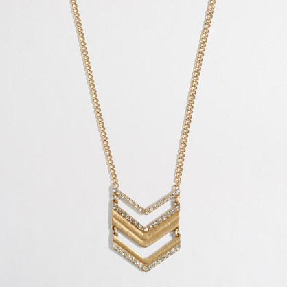 Factory chevron pendant necklace